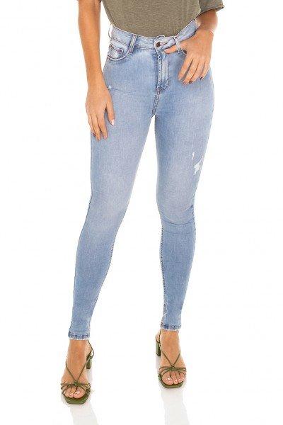 dz3488 calca jeans feminina skinny hot pants cigarrete com puidos denim zero frente prox