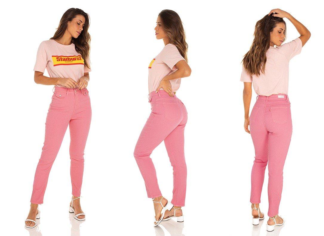 dz3541 calca jeans feminina mom fit bolsinhos frontais denim zero tripla