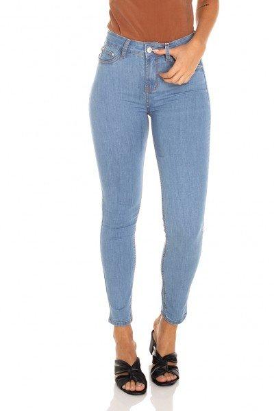 dz3571 calca jeans feminina skinny media cigarrete tradicional denim zero frente prox