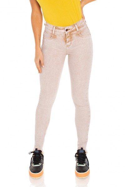 dz3496 calca jeans feminina skinny media recorte frontal denim zero frente prox