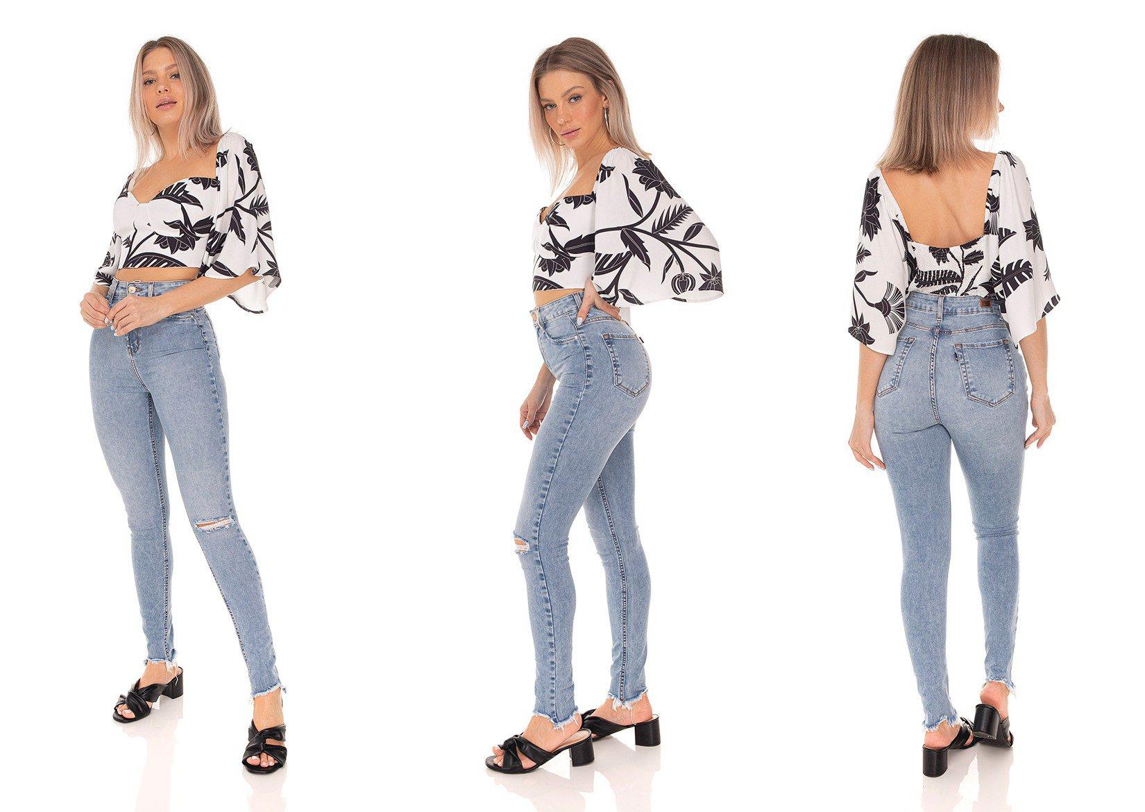 dz3519 calca jeans feminina skinny hot pants cigarrete clarinha denim zero tripla
