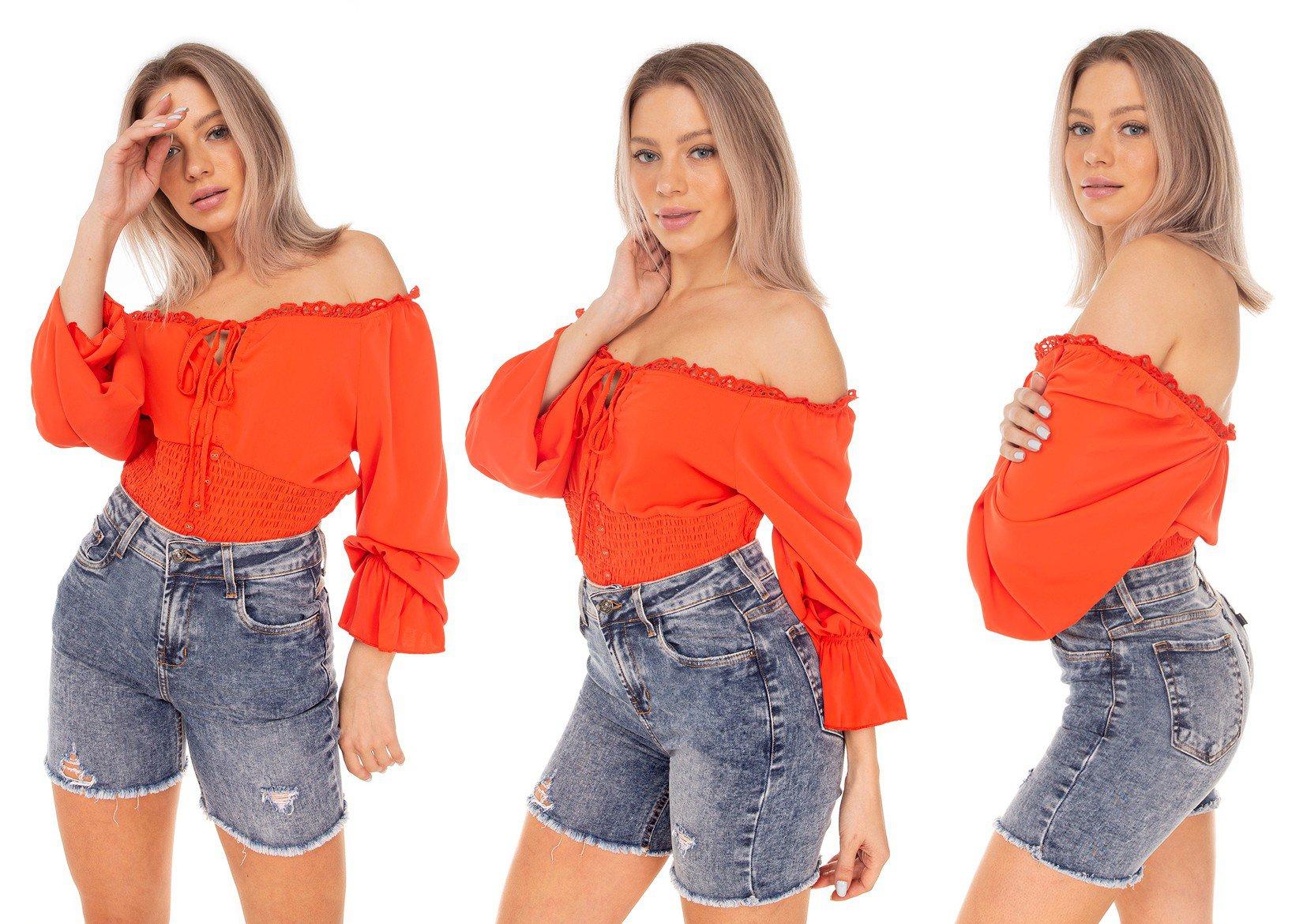 dz4040 bermuda jeans feminina slim barra desfiada denim zero tripla