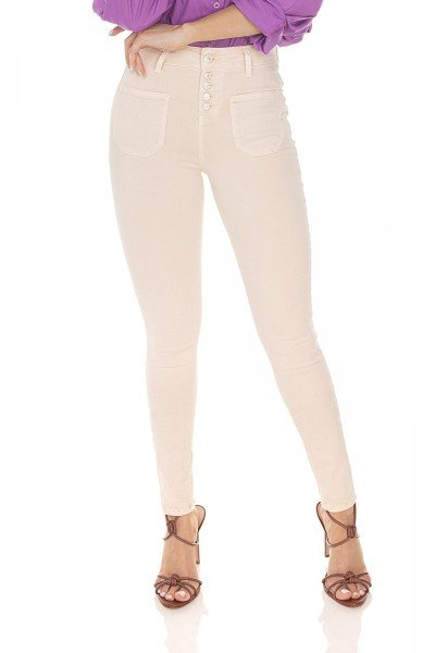dz3535 calca jeans feminina skinny media cigarrete colorida natural denim zero frente prox