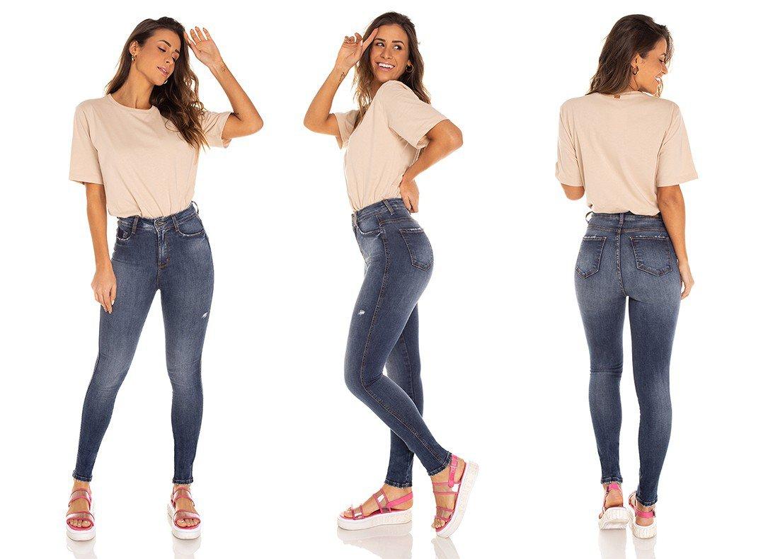 dz3458 calca jeans feminina skinny hot pants cigarrete tradicional denim zero tripla
