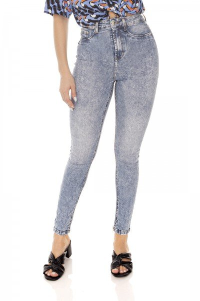 dz3616 calca jeans feminina skinny hot pants cropped denim zero frente prox