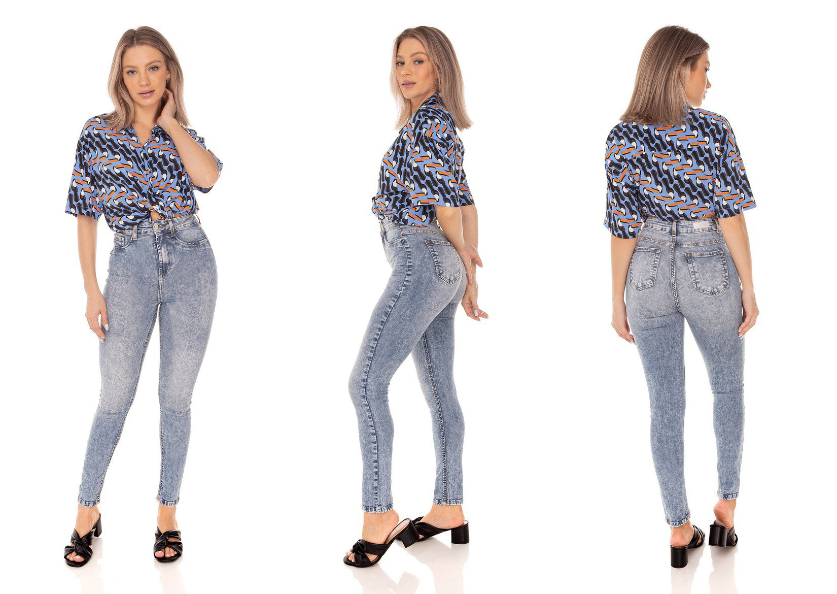 dz3616 calca jeans feminina skinny hot pants cropped denim zero tripla