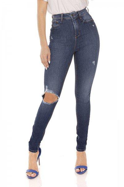 dz3491 calca jeans feminina skinny hot pants rasgo joelho denim zero frente prox