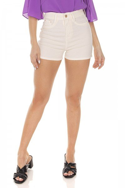 dz6424 shorts jeans feminino pin up colorido off white denim zero frente prox
