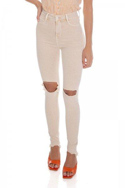 dz3573 re calca jeans feminina skinny hot pants colorida natural denim zero frente prox
