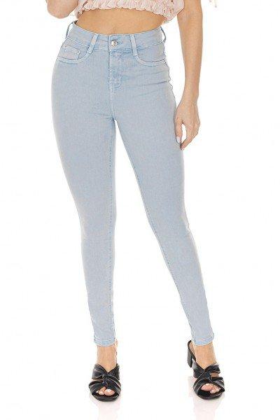 dz3309 calca jeans feminina skinny cigarrete colorida denim zero frente prox
