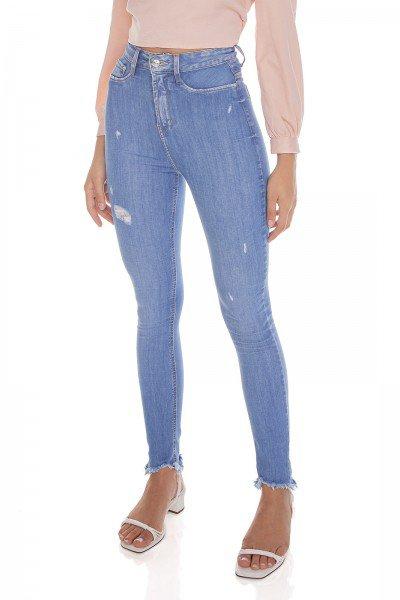 dz3607 com calca jeans feminina skinny hot pants cigarrete com puidos frente prox