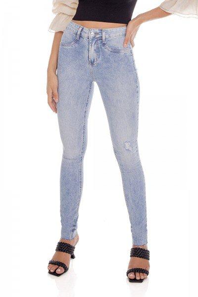 dz3643 com calca jeans feminina skinny media barra corte a fio denim zero frente prox