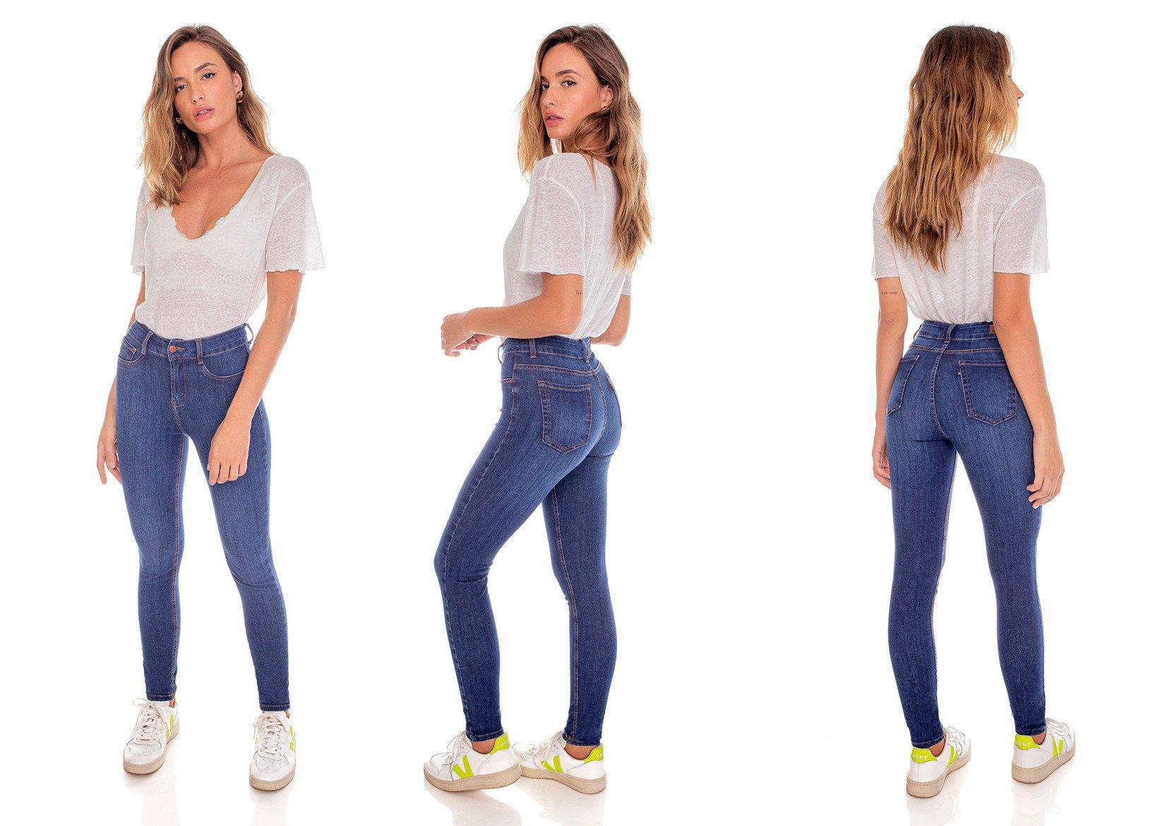 dz3627 ts calca jeans feminina skinny media cigarrete tradicional denim zero tripla