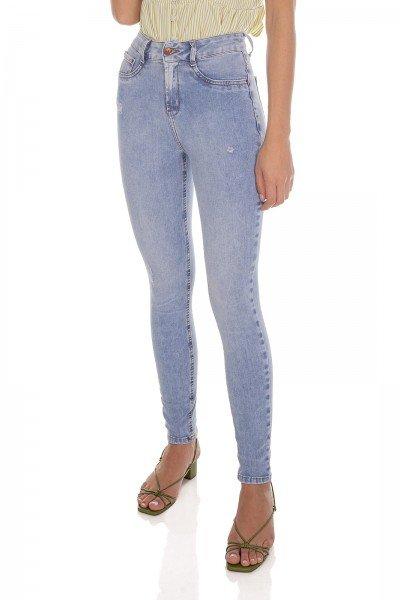 dz3628 ts calca jeans feminina skinny media tradicional denim zero frente prox