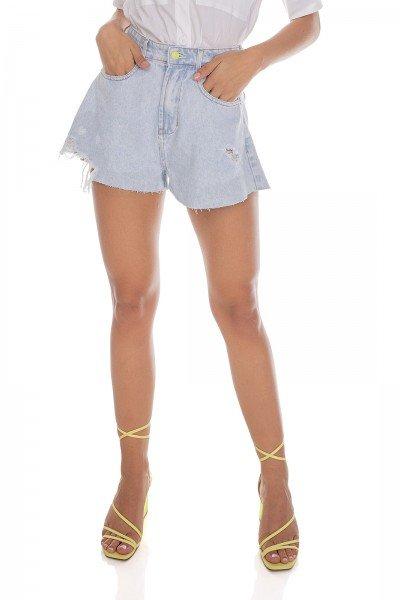 dz6470 alg shorts jeans feminino gode barra corte a fio denim zero frente prox