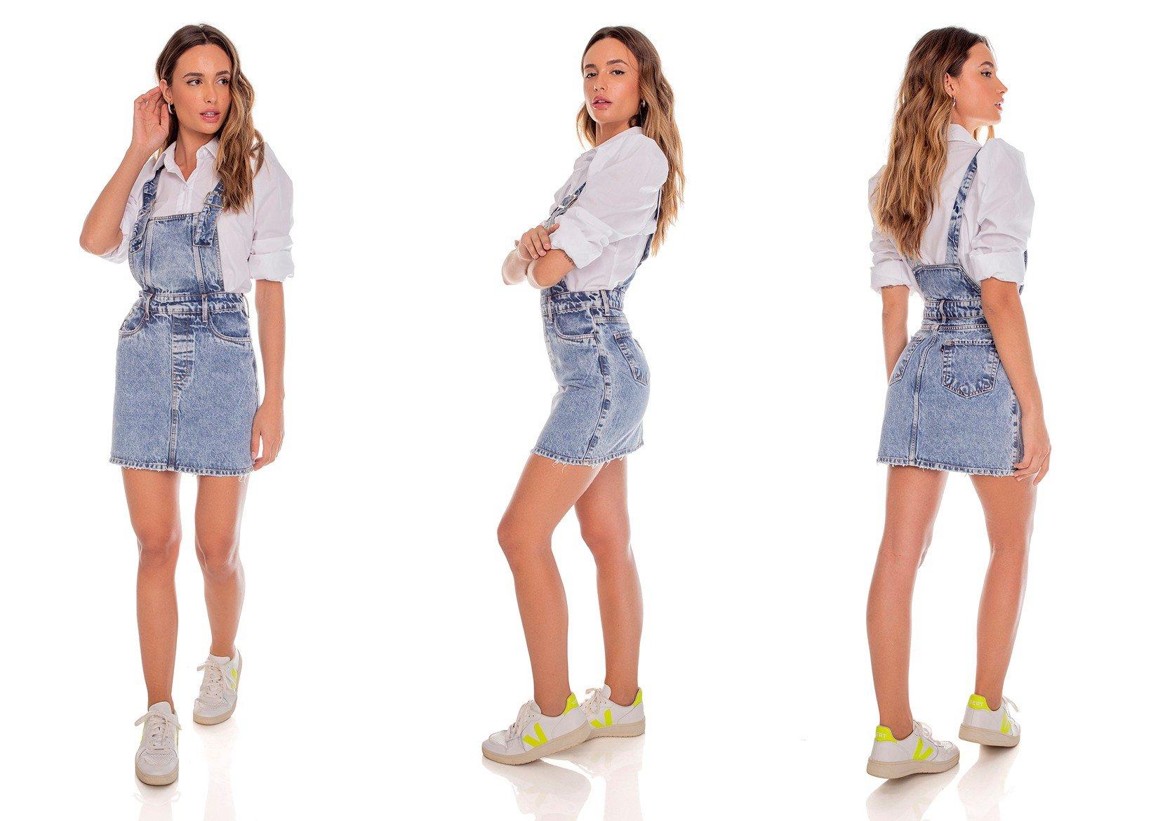 dz12087 alg salopete jeans feminina botoes laterais denim zero tripla