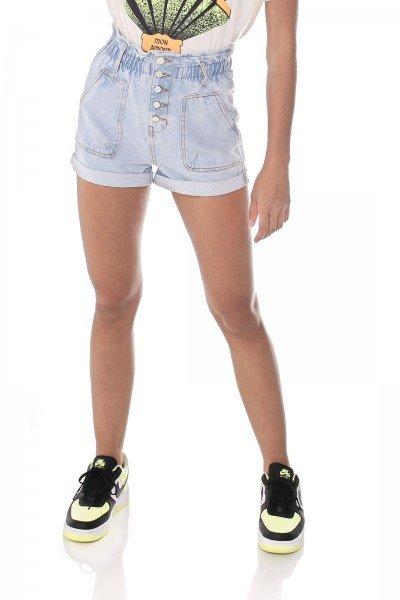dz6466 alg shorts jeans feminino setentinha clochard fechamento botoes denim zero frente prox