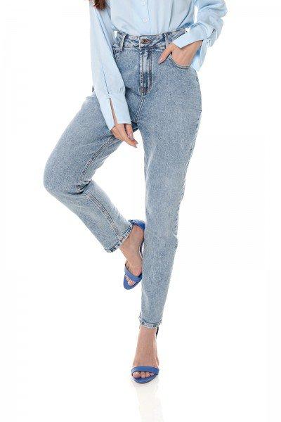 dz3659 com calca jeans feminina mom fit denim zero frente prox