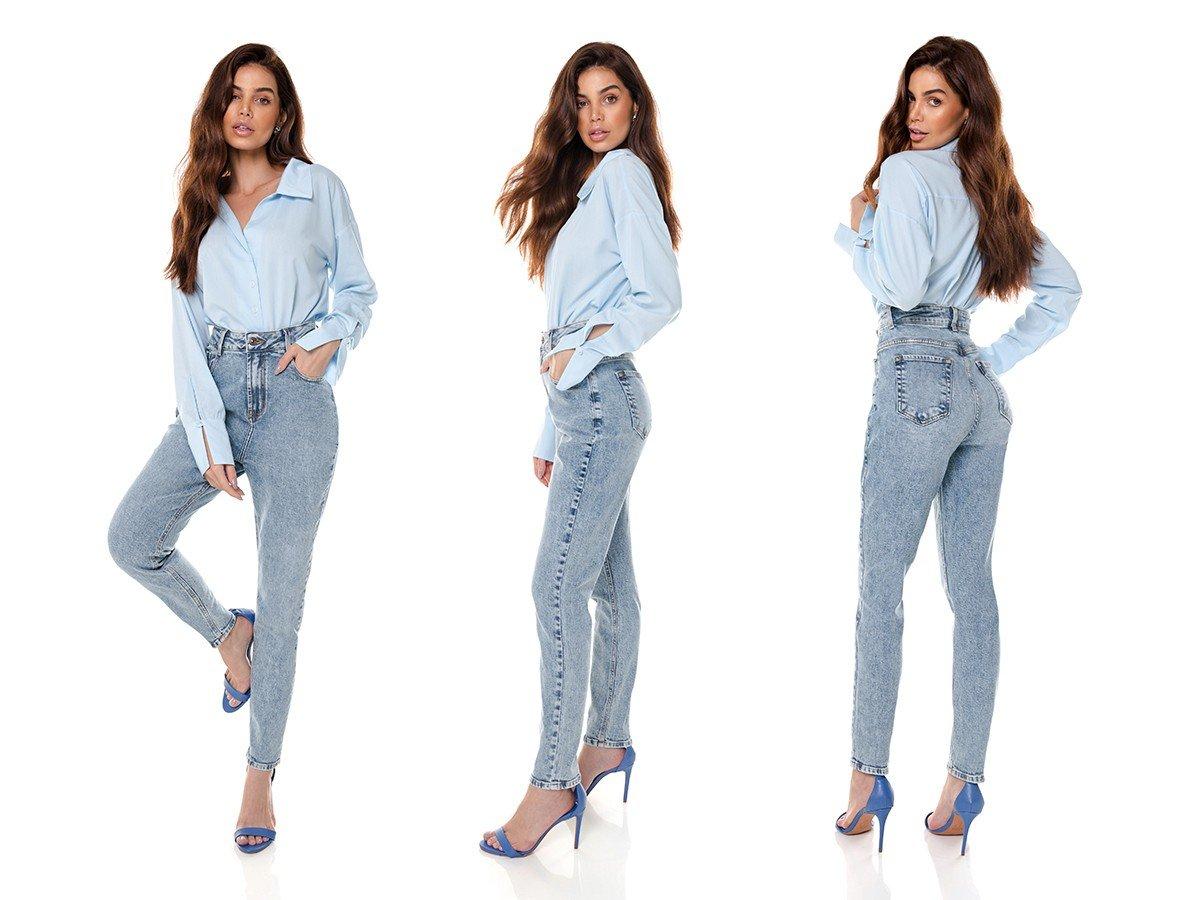 dz3659 com calca jeans feminina mom fit denim zero tripla
