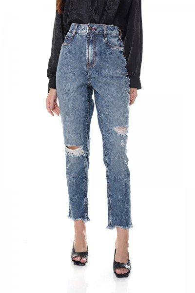 dz3660 alg calca jeans feminina mom com rasgos denim zero frente prox