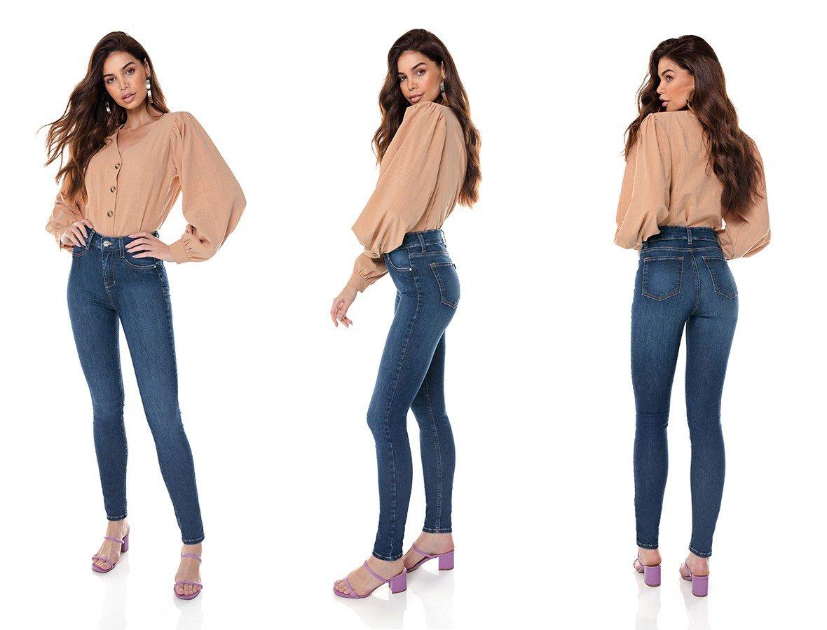 dz3703 re calca jeans feminina skinny media tradicional denim zero tripla