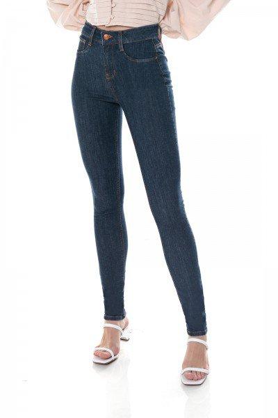 dz3704 com calca jeans feminina skinny media escura denim zero frente prox