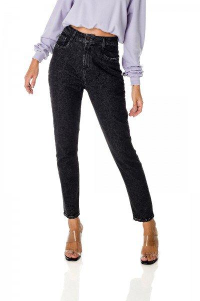 dz3689 com calca jeans feminina mom fit escura denim zero frente prox