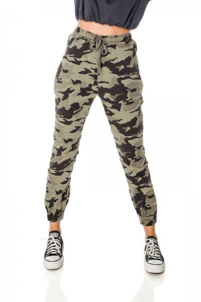 dz3712 com calca jeans feminina jogger camuflada denim zero frente prox