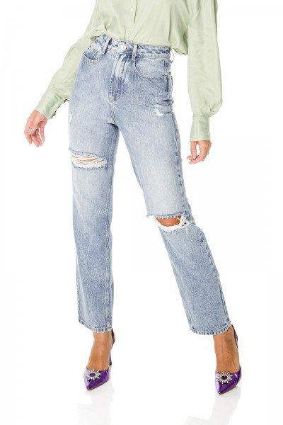 dz3691 alg calca jeans feminina dad pants com rasgos denim zero frente prox