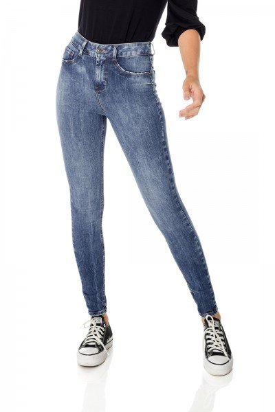 dz3709 ts calca jeans femininaskinny media cigarrete escura denim zero frente prox