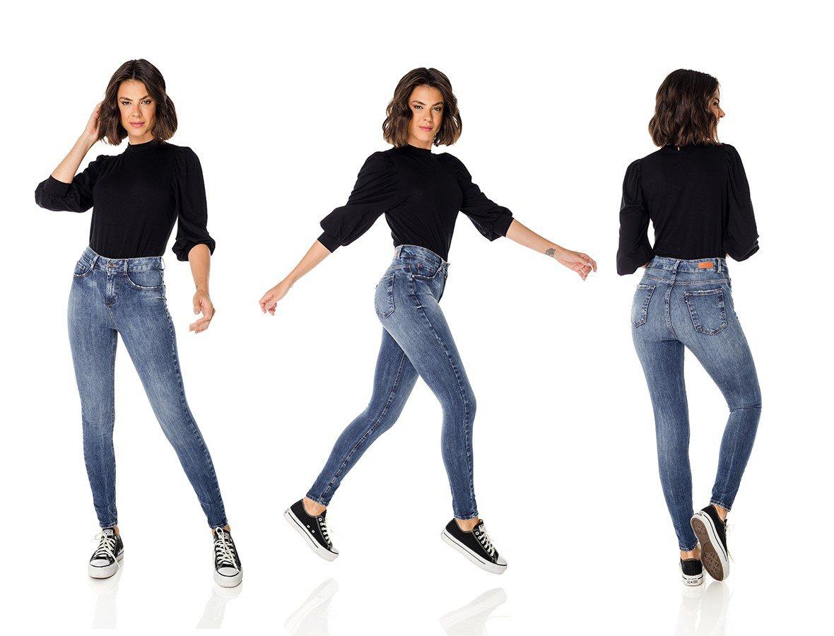 dz3709 ts calca jeans femininaskinny media cigarrete escura denim zero trio