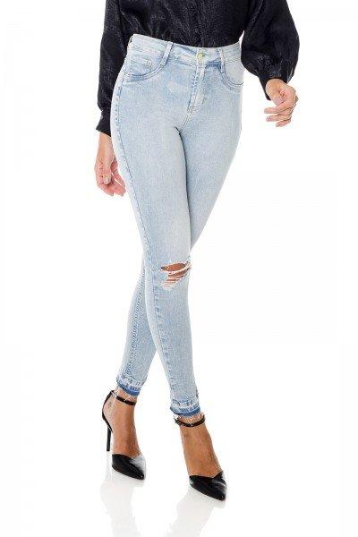dz3678 com calca jeans feminina skinny media cigarrete com rasgos denim zero frente prox