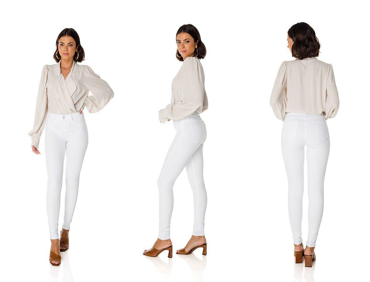 dz3848 antiga 3304 re calca jeans feminina skinny media black and white branca denim zero trio