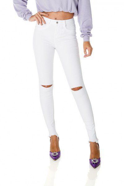 dz3849 antiga dz3124 re calca jeans feminina skinny media black and white branca denim zero frente prox