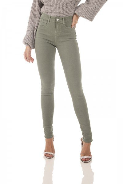 dz3626 re calca jeans feminina skinny media colorida cha denim zero frente prox