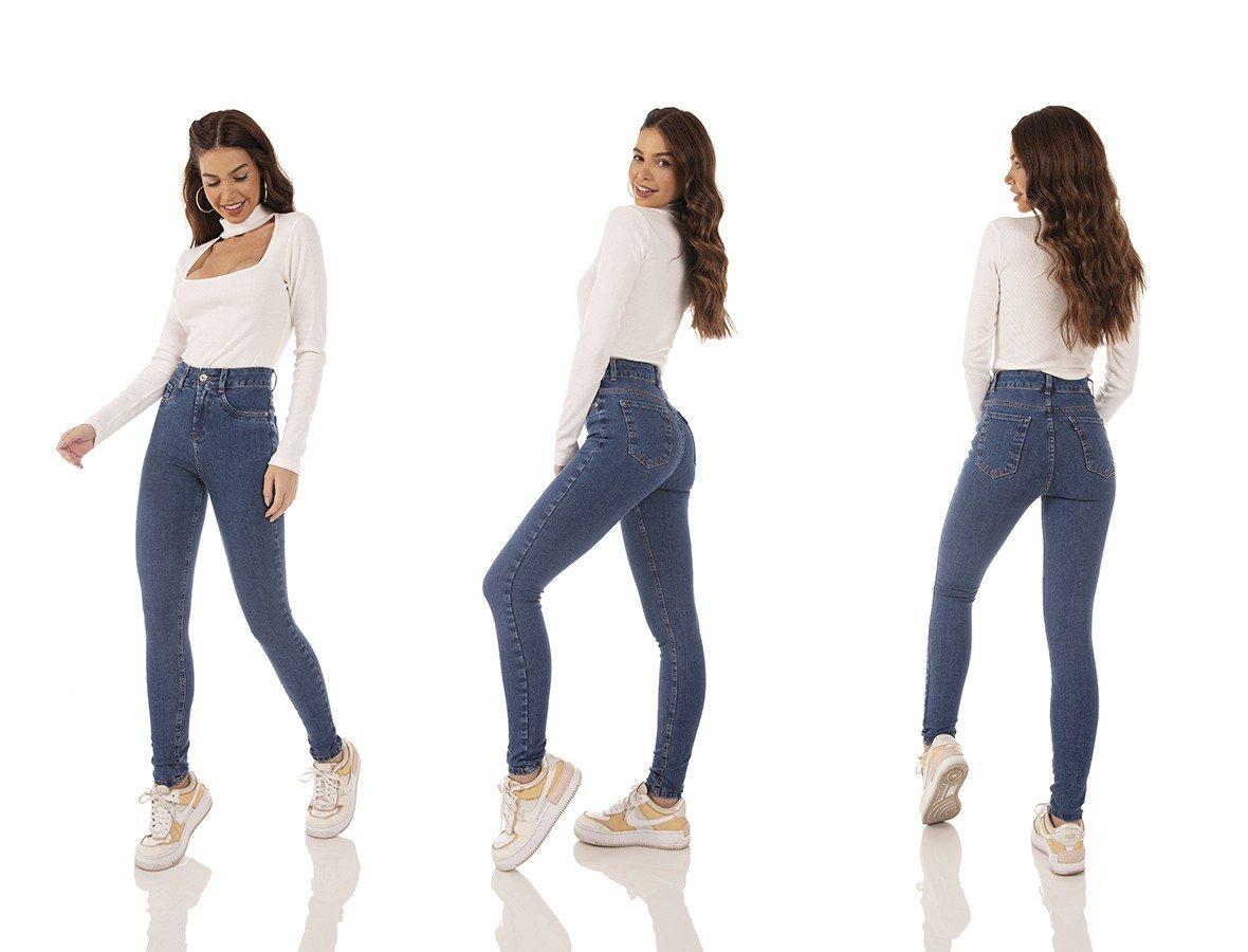 dz3751 ts calca jeans feminina skinny media cigarrete escura denim zero tripla