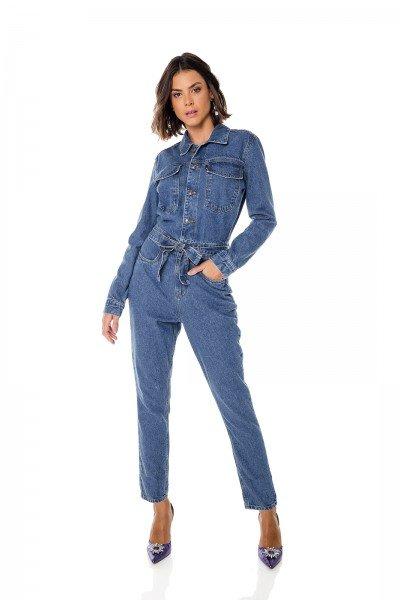 dz8050 alg macacao jeans feminino manga longa denim zero frente 02
