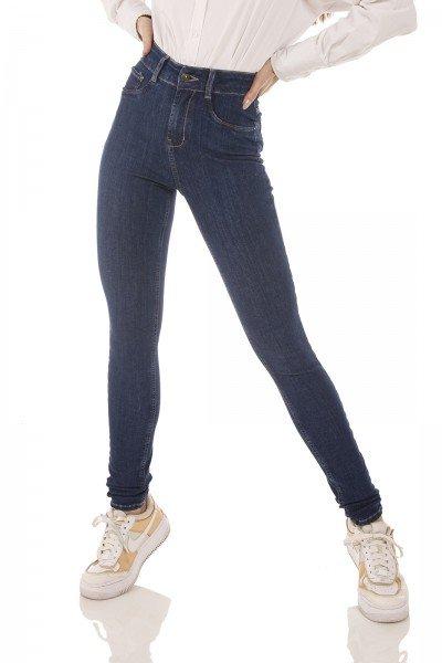 dz3754 ts calca jeans feminina skinny media escura denim zero frente prox 2
