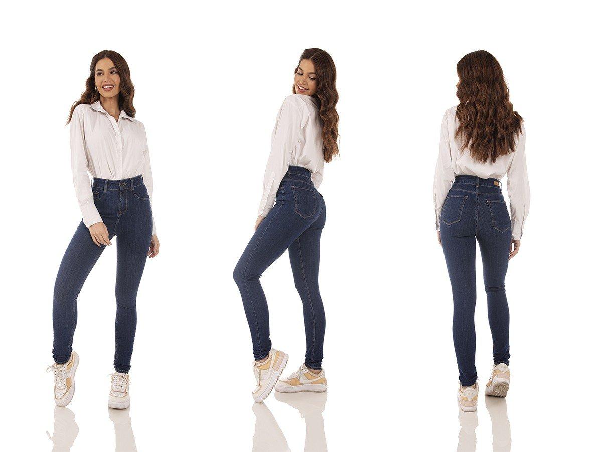 dz3754 ts calca jeans feminina skinny media escura denim zero tripla