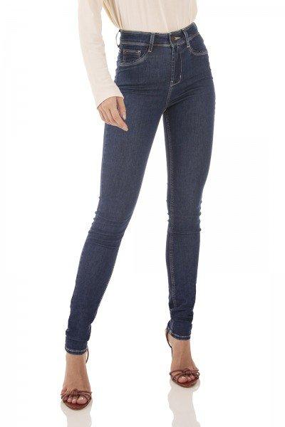 dz3722 re calca jeans feminina skinny media tradicional denim zero frente prox
