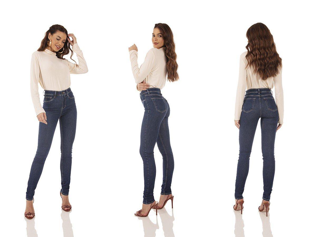 dz3722 re calca jeans feminina skinny media tradicional denim zero tripla