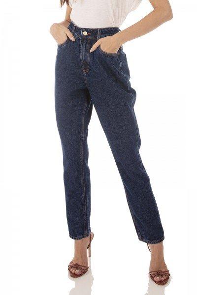 dz3740 alg calca jeans feminina mom escura denim zero frente prox