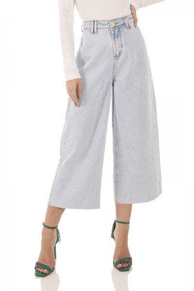 dz3745 alg calca jeans feminina pantacourt hot pants barra corte a fio denim zero frente prox