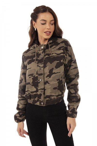 dz9131 com jaqueta jeans feminina bomber camuflada denim zero frente 04
