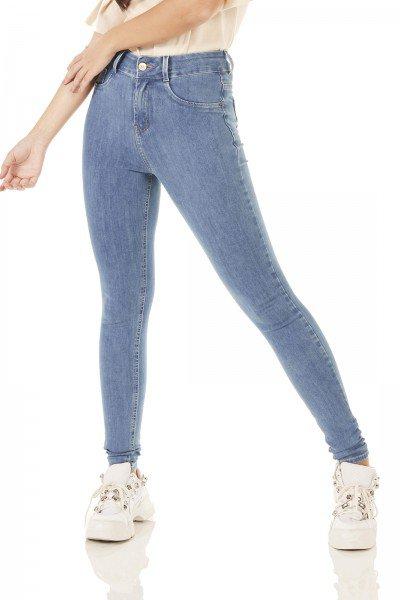 dz3793 ts calca jeans feminina skinny media tradicional denim zero frente prox