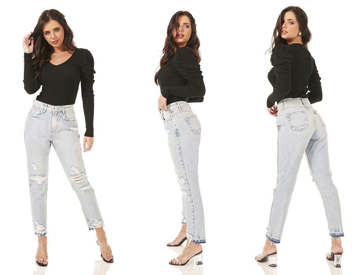 dz3482 alg calca jeans feminina mom destroyer denim zero tripla