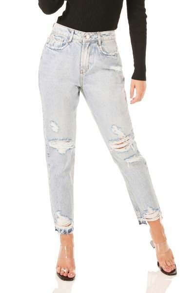dz3482 alg calca jeans feminina mom destroyer denim zero frente prox