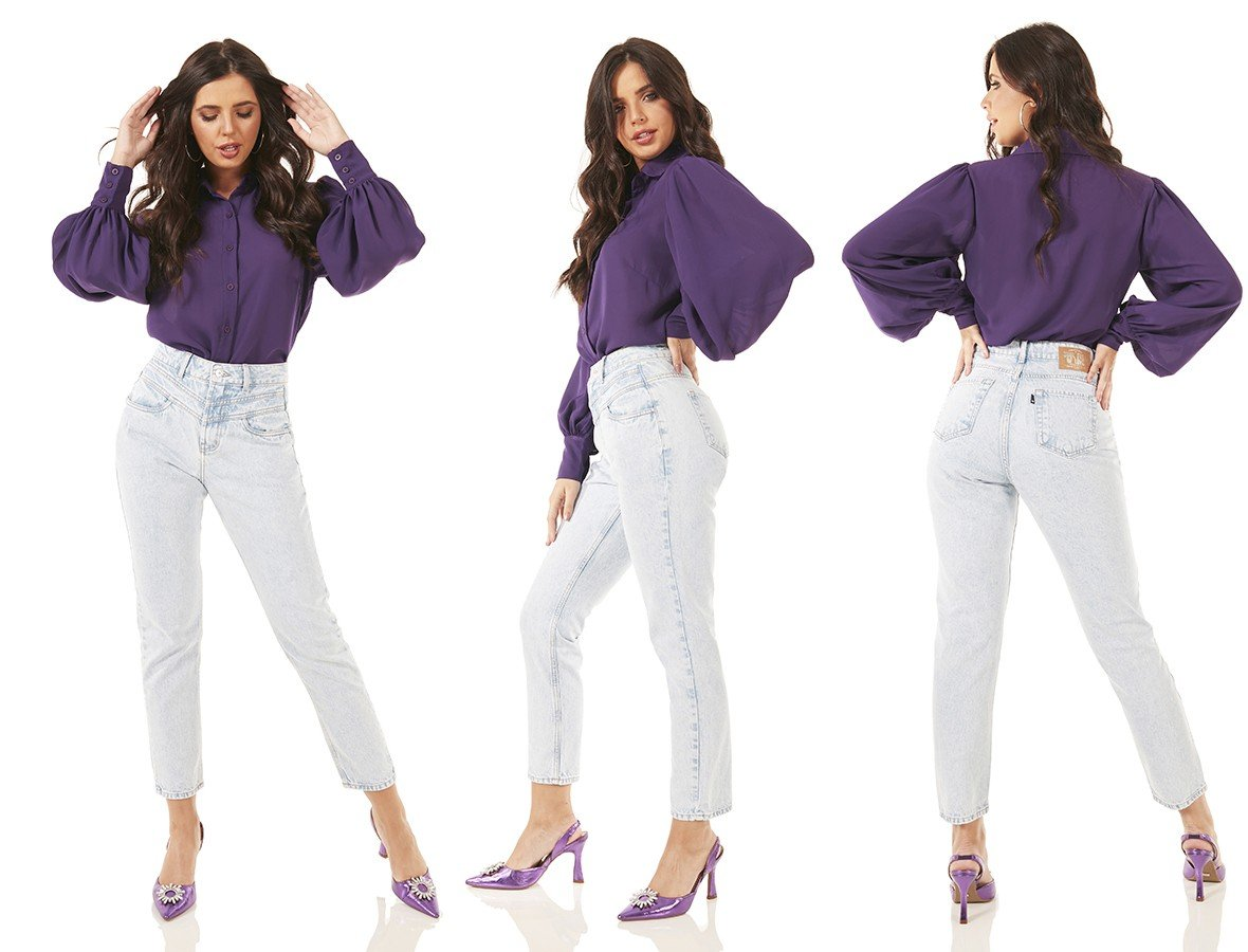 dz3701 alg calca jeans feminina mom recorte frontal denim zero tripla