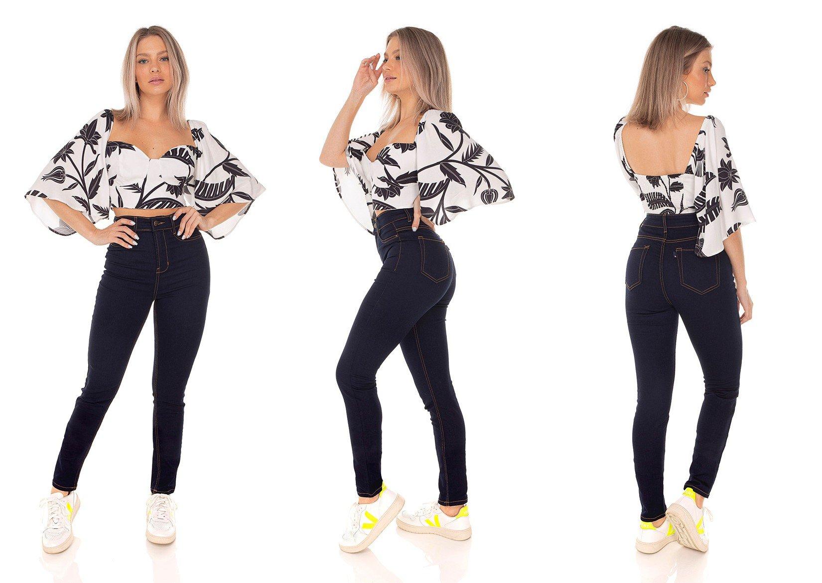 dz3615 calca jeans feminina skinny hot pants tradicional denim zero tripla