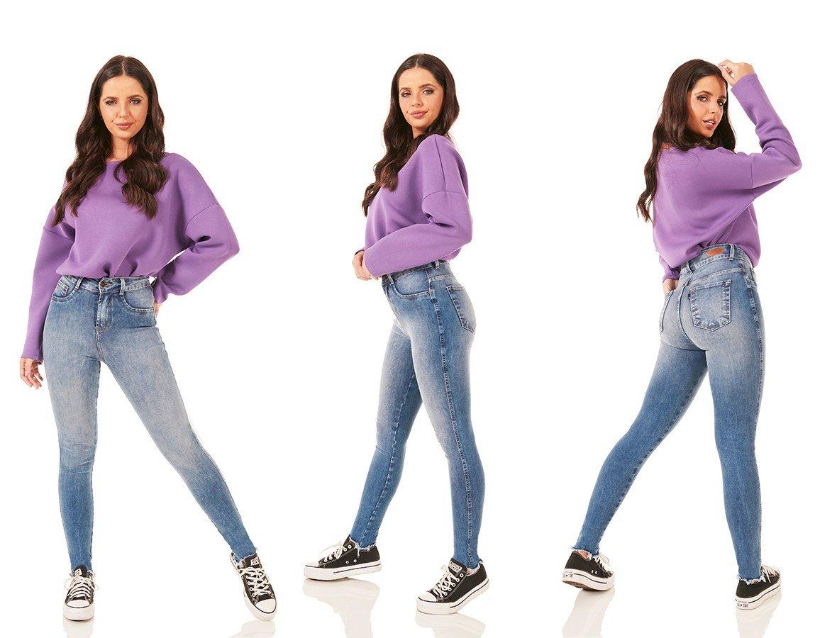 dz3794 ts calca jeans feminina skinny media cigarrete barra desfiada denim zero tripla